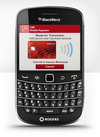 CIBC will make both MasterCard PayPass and Visa payWave credit applications available for download by customers when it launches NFC service with Rogers Communications later this month.